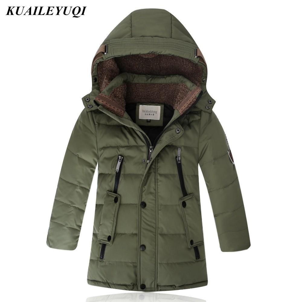 -30 градусов Больших мальчики Подогреть Детскую зиму утиных курток для детской одежды детской одежды пальто сгущает Верхняя одежда Parka Y200919