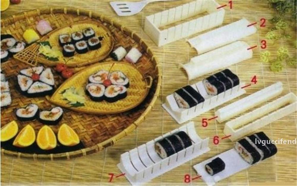 Круглый сердечный квадратный дизайн суши прессформы плесени установлен рука суши производителя рис формирование 100% качество Guranteed