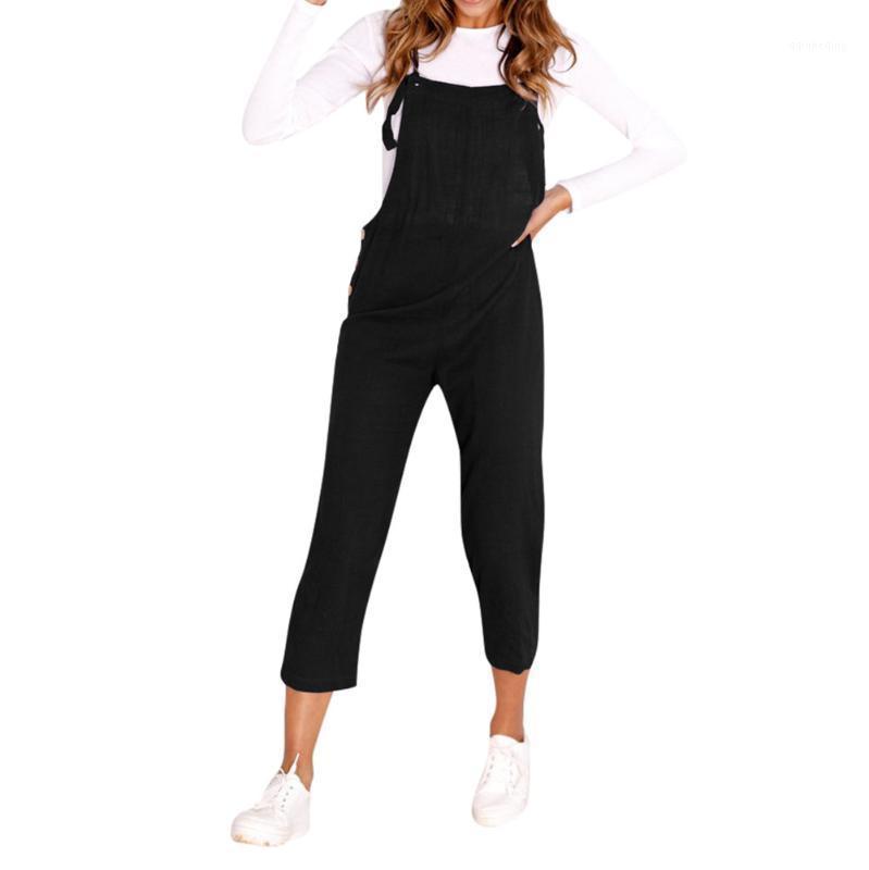 Donne Spaghetti Strap Legs larghe Gambe morbide e confortevoli Bodycon Tuta Pantaloni Clubwear Rompere L50 / 01161