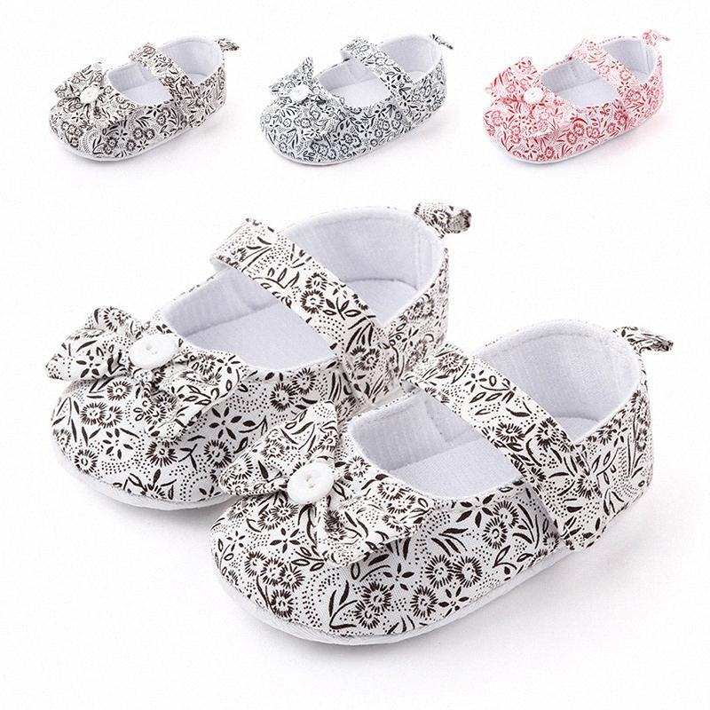 0-18 Months Cute Newborn Baby Girl Shoes Toddler Girl Princess Baby Shoes Flower Soft-Soled Crib KEX7#