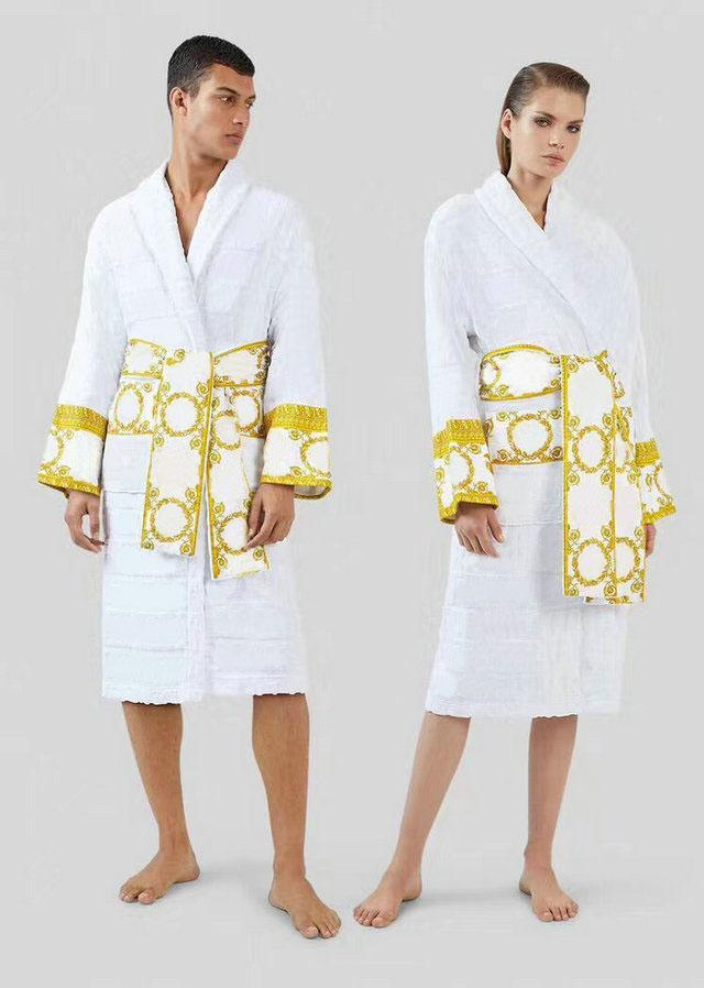 2021 homens vestes camisola 5a qualidade design de luxo roupão pijamas vestido de algodão itália mulheres sleepwear casual casa desgaste