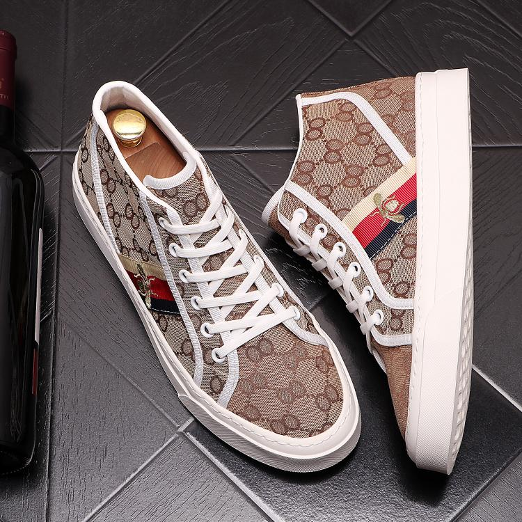 2021 Personalidade Outono Masculino Designer Sapatos Estudante Sapatos Casuais Respirável Tendência de Juventude Impressão de Luxo Homens Zapatillas Hombre