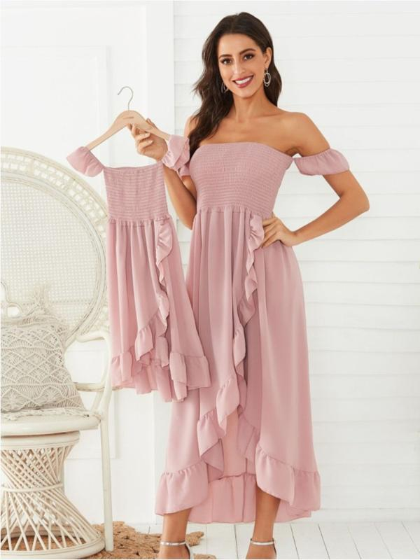 Maternity Photography Props Family Matching Clothes Dress Pregnancy Women Girls Beach Dresses Mother and Daughter Maxi Gown 20201