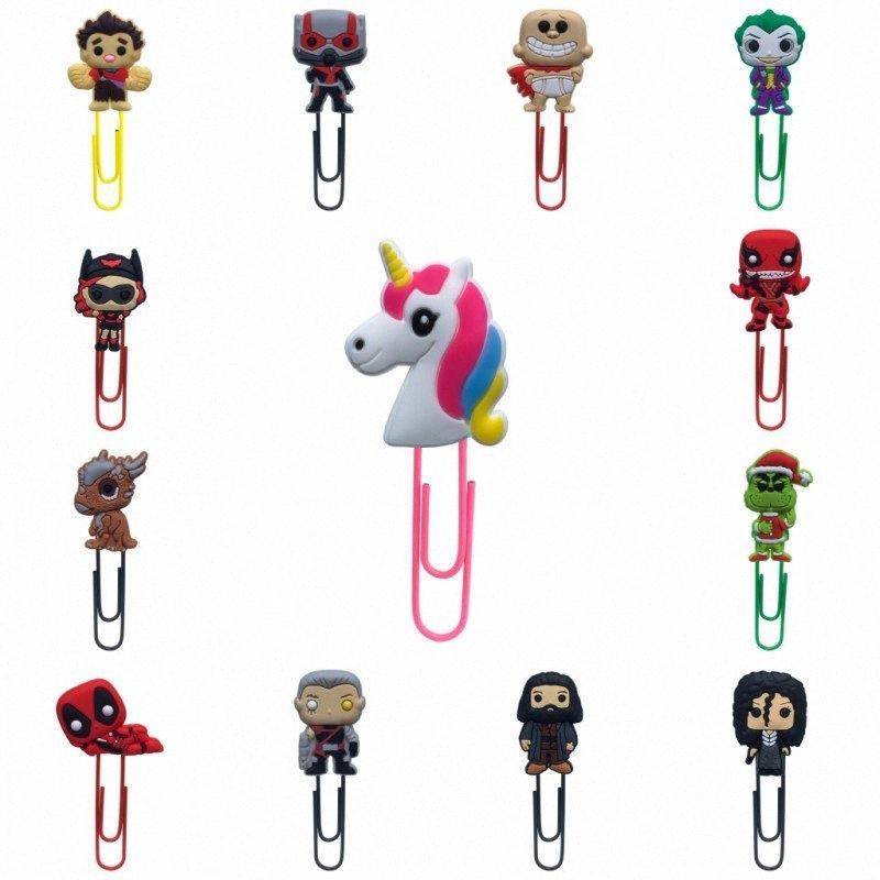 1pcs signets pour enfants Cartoon Mini Figures Livre Trombones Mark School Teacher Bureau Supply Parti cadeau Zomj #