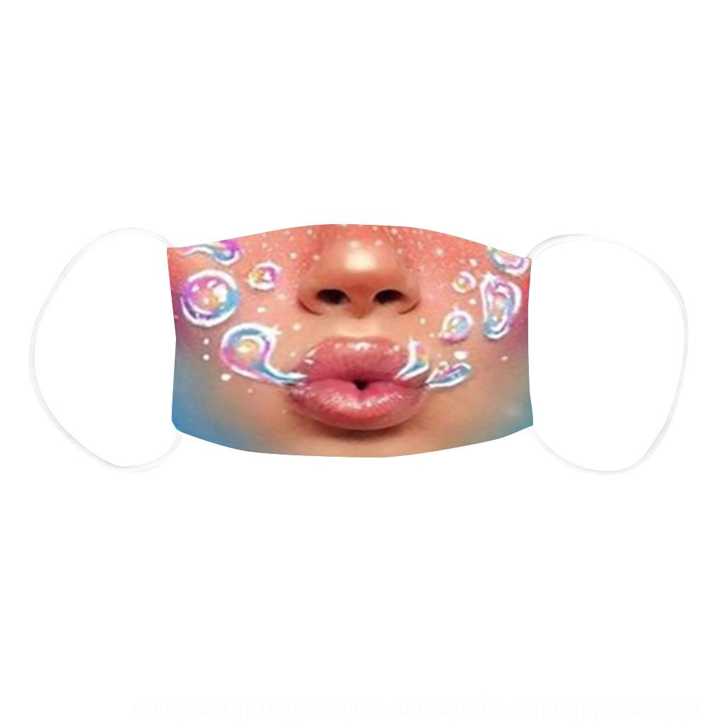 ZZ2i 5 шт. Сумка Детская дизайнерская маска Черно-розовый синий Summere Made Face Protective PM2.5 Марка Маски Моющаяся крышка вечеринка MA