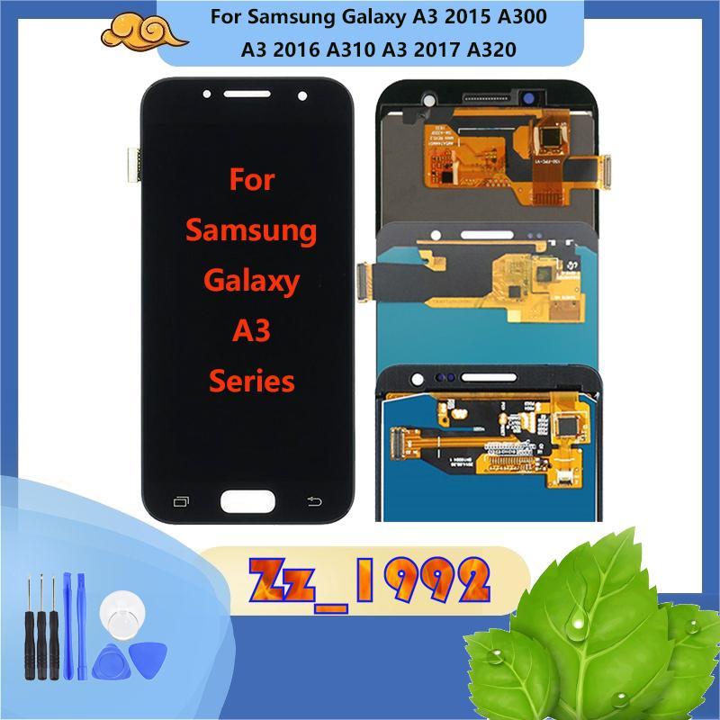 """4.7"""" 4.5"""" Hot Verkauf! Factory! Bester Preis! Original-LCD-Bildschirm für Samsung A3 2015 A3 2016 A3 2017 Touchscreen-Display"""