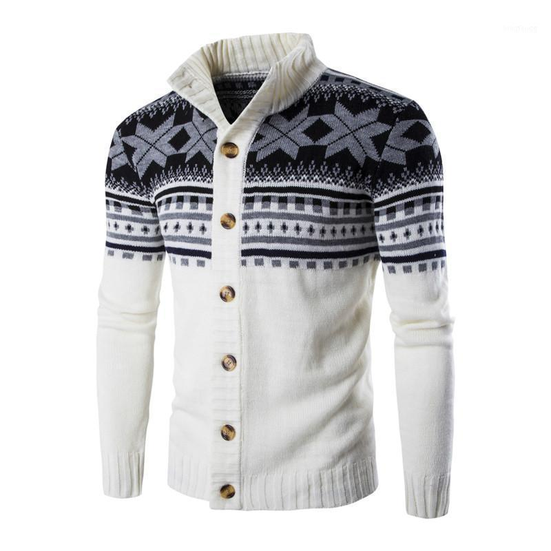 Осень зима стройный свитер с длинным рукавом пальто мужчины кардиган свитер повседневная стойка воротник вязание мужские свитера кардиган MZM0471
