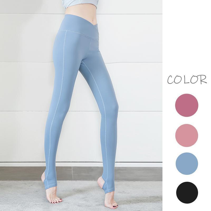 Women Yoga Leggings High Waist Tummy Control Stirrup Trousers for Female Sports Fitness Breathable Sweatpants