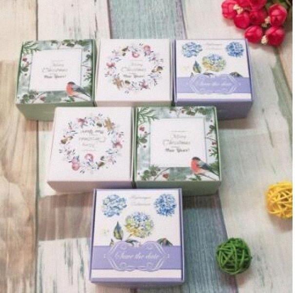 50pcs- Couleur Blanc Boîte Paperboard Avion savon pour les mains d'emballage Boîtes pour bijoux bonbons Emballage cadeau unaW #