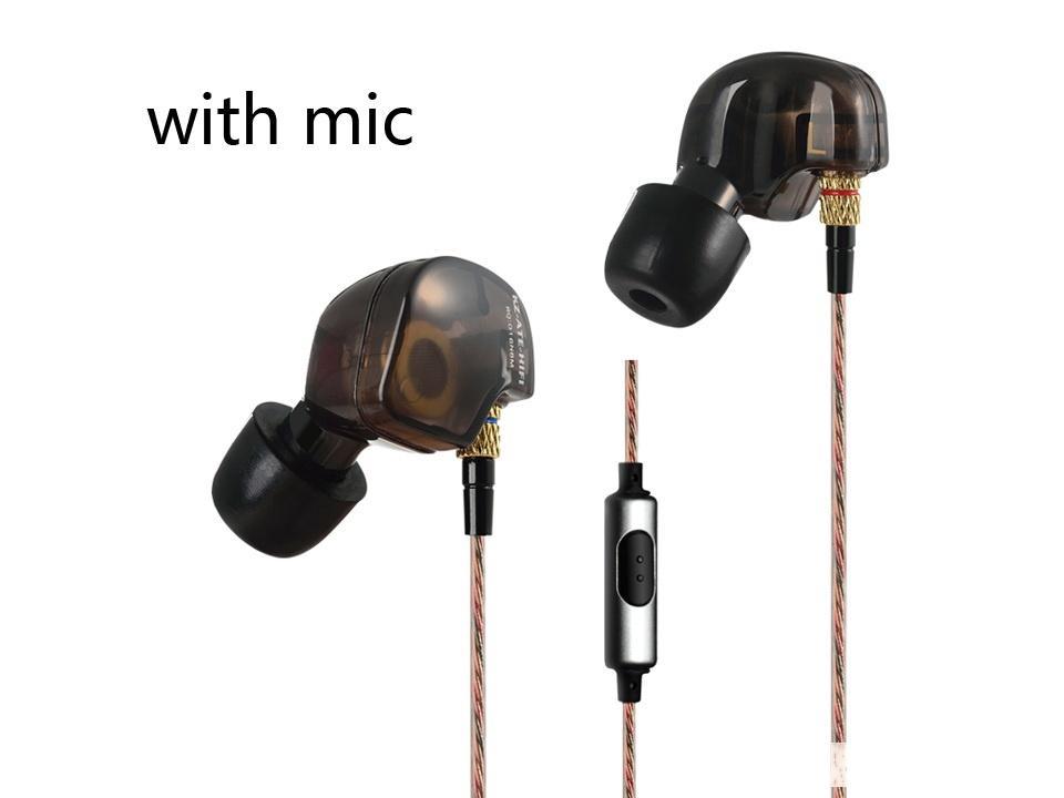 KZ ATE cuffie con basso pesante e con isolamento acustico di musica di sport Cuffie auricolari ad alta sensibilità HD