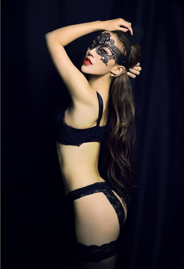 Costume Sexy Lady Halloween Eye Black Half Fancy Masquerade Mask Face Cutout For Lace Party Ayp801 Tbwku