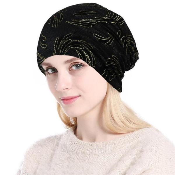 Nuove Berretti quotidiani donna Moda protezione lavorata a maglia autunno della molla del cappello caldo Skullies Cappelli in morbido cotone cappelli da donna Bonnet
