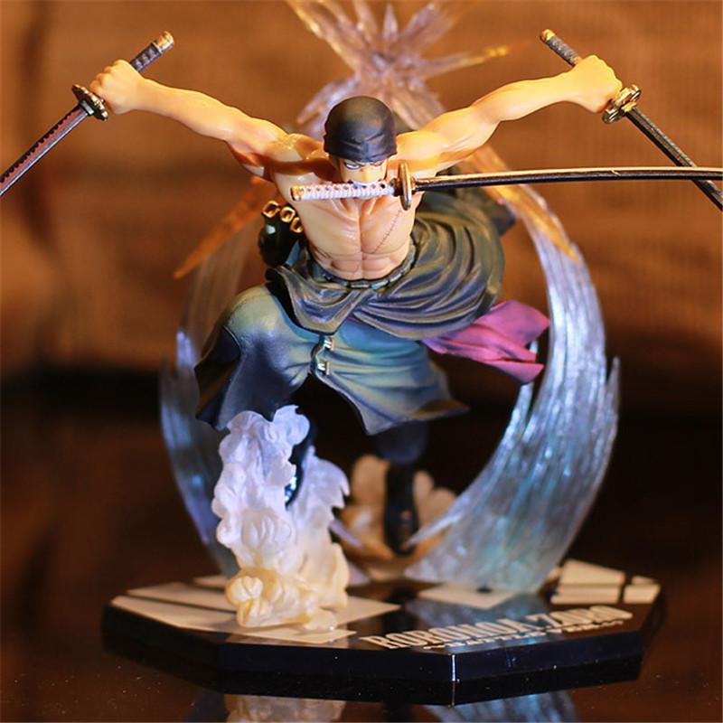 Japon Anime One Piece Roronoa Zoro Mahkum Ver. PVC Action Figure Oyuncaklar Roronoa Zoro Şekil Dekorasyon Model Oyuncaklar Çocuk Hediye 1008