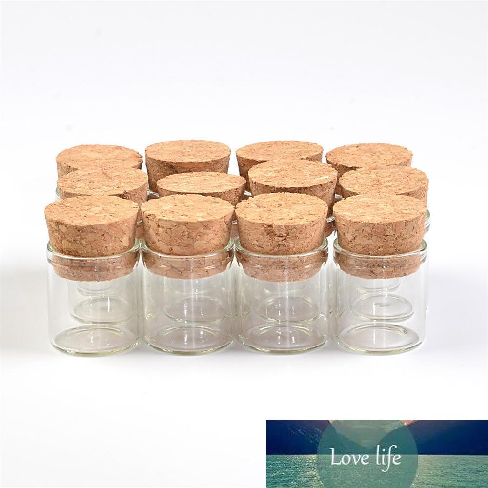 22 * 25mm 4 ml tubo pequeño de vidrio viales de ensayo con tarros de cristal vacía de Taponeras claro transparente Botellas 100pcs / lot