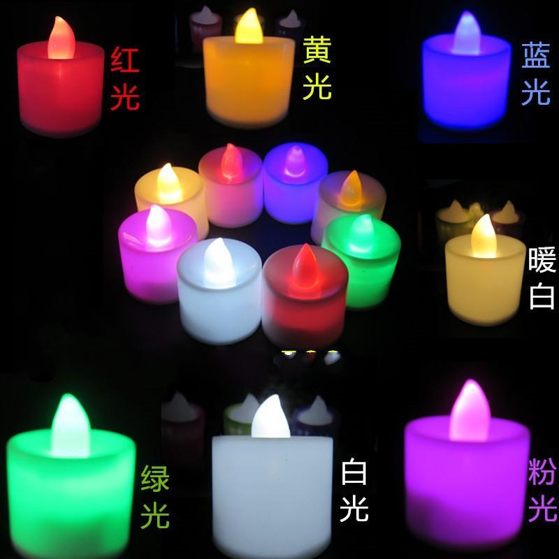Festa di compleanno di nozze elettronica della candela San Valentino Famiglia LED Candele della lampada sette colori di nuovo arrivo 0 3RP J2
