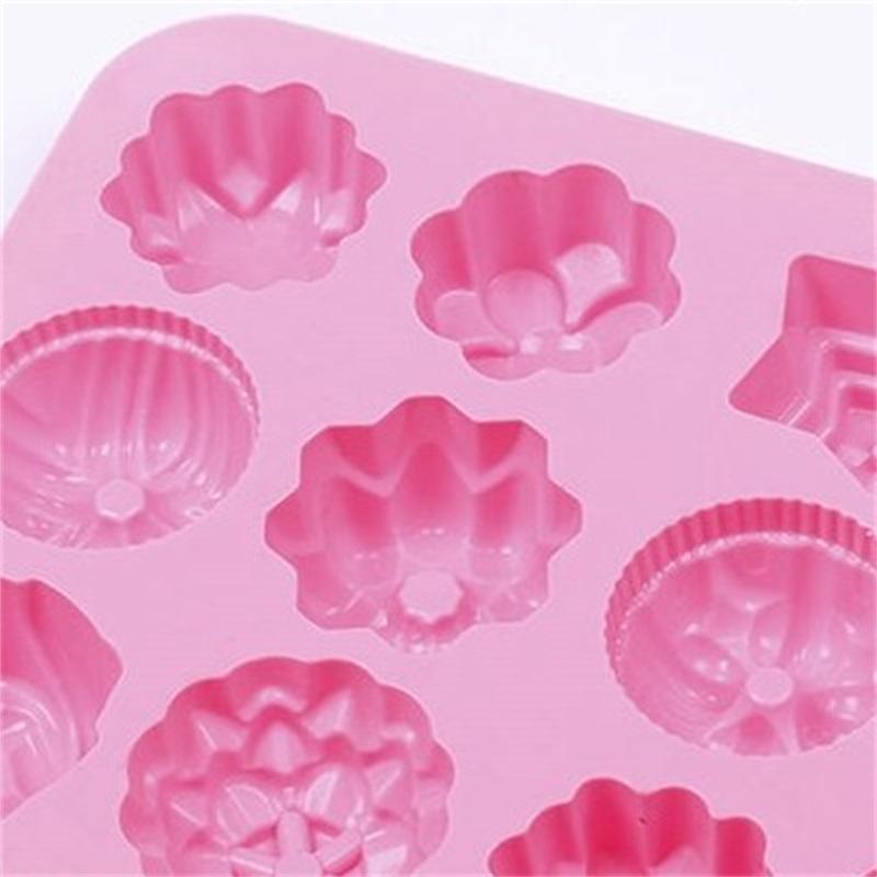 Silicone Gelo Grid Moldes de Chocolate Soap Mold Sorvete Pudim Fácil Demvolvido Molde de Alta Temperatura Resistência à Venda Quente 3 4FJ F2