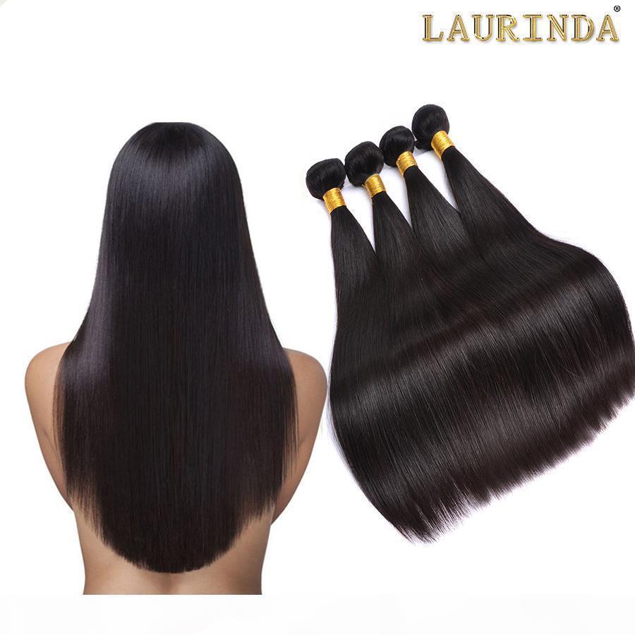 Grau 8A brasileiro cabelo liso 4 pacotes não processados peruano indiano indiano camboja cabelo humano tece até 2 anos a vida pode branquear