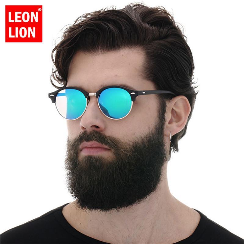 Lunettes de soleil ronde de Leonlion Classic Hommes Vintage Designer de luxe Sunglasses Femmes 2020 Haute Qualité Driving Oculos Feminino Rose Q0121