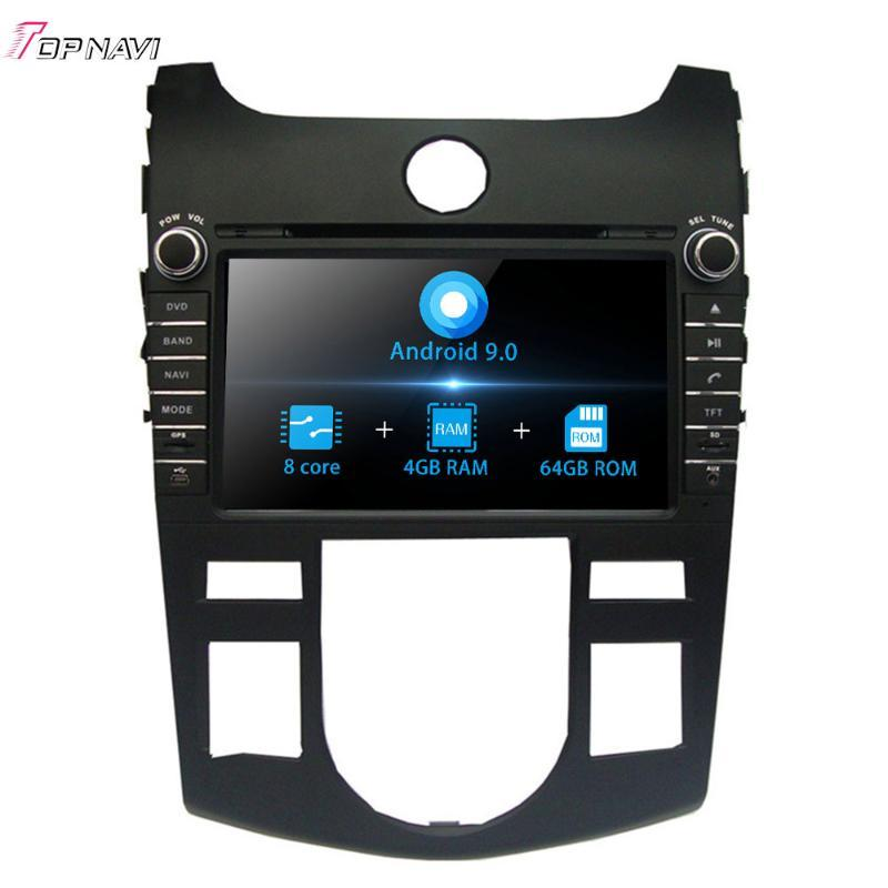 Octa Core 8 '' Android 9.0 para Kia Cerato / Forte / Shuma / Koup Manual Air- Conditioner Versión 2008 -2012 Estéreo Coche Radio GPS 2 Din Coche DVD