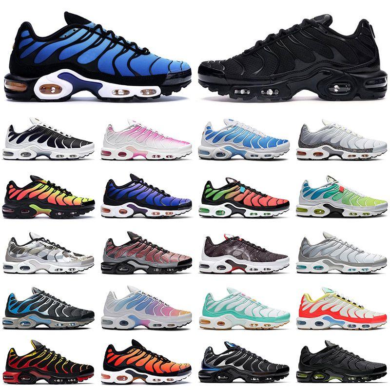 nike TN air max Plus SE shoes hommes des chaussures de course tripler noir blanc rouge lunettes 3D Hyper bleu Spray paint mens trainer respirant baskets de sport