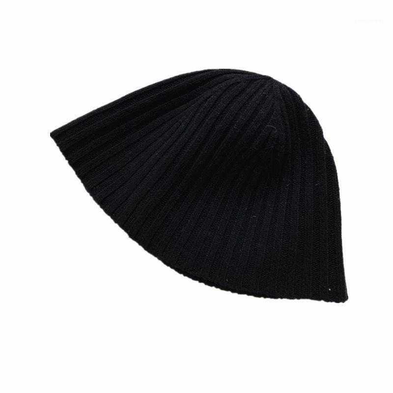 Beanie / Kafatası Kapaklar Kış Şapka Kadın Katı Renk Örme Beanies Sıcak Koşullu Açık Rahat Skullcap Yumuşak Bonnet Şapka1