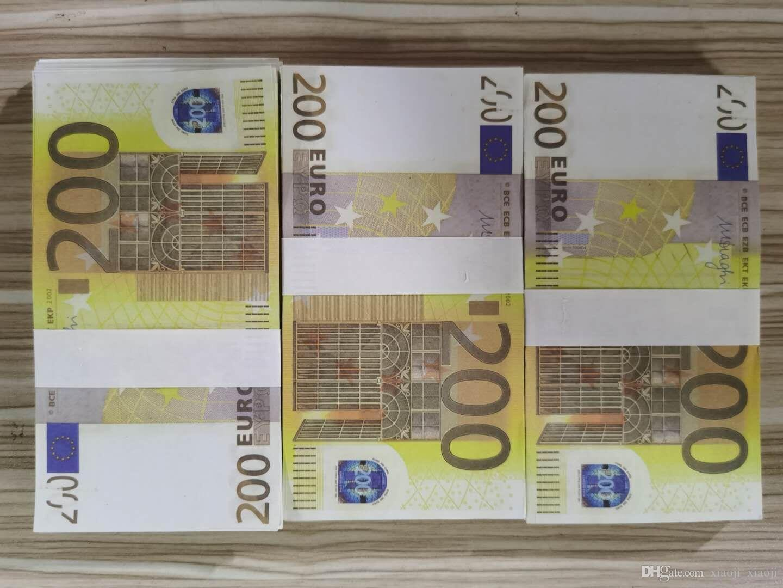 23 Più realistico Prop Fake Nightclub Bank Bank Soldi per Play Note Collezione Copia carta moneta soldi Business 200EUROS XQGFN