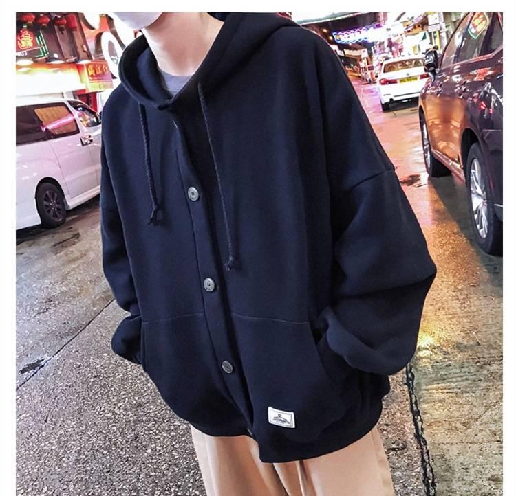 Крутые повседневные зимние флисовые толстовки мужчины женщины сплошной цвет теплые толстовки корейские подростки мода толстовка толстовки кг-156
