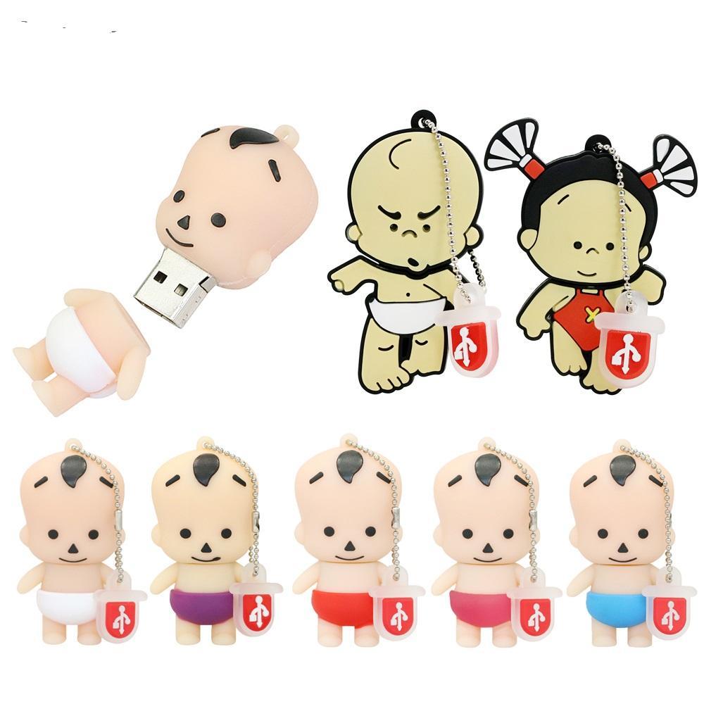Mini-Stift-Laufwerk Baby-Geschenk USB-Stick 16GB 32GB 64GB 128MB Cartoon-Infant-Pobaby-USB-Flash-Laufwerk 256MB Pendrive-Speicherdiskette