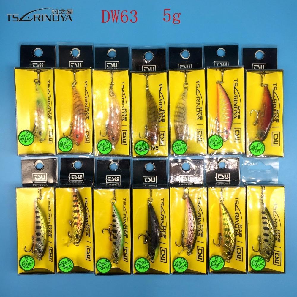 Tsurinoya Новый продукт 14 Цветов 5G / 5 см Жесткая приманка Маленький Миннов Круковица Рыболовные Приманки Бас Тонущая Рыбалка Wobblers 201030