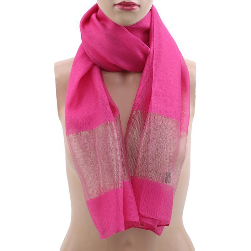 Новая мода Элегантный шелковый шарф женщин Summer Breeze Легкий Sheer Wrap Лоскутная марлевые Шарф