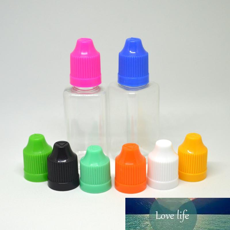 150pcs quadrado vazio Garrafas PET de plástico conta-gotas com Childproof Caps E líquido Limpar Disco 30ml Agulha Garrafa