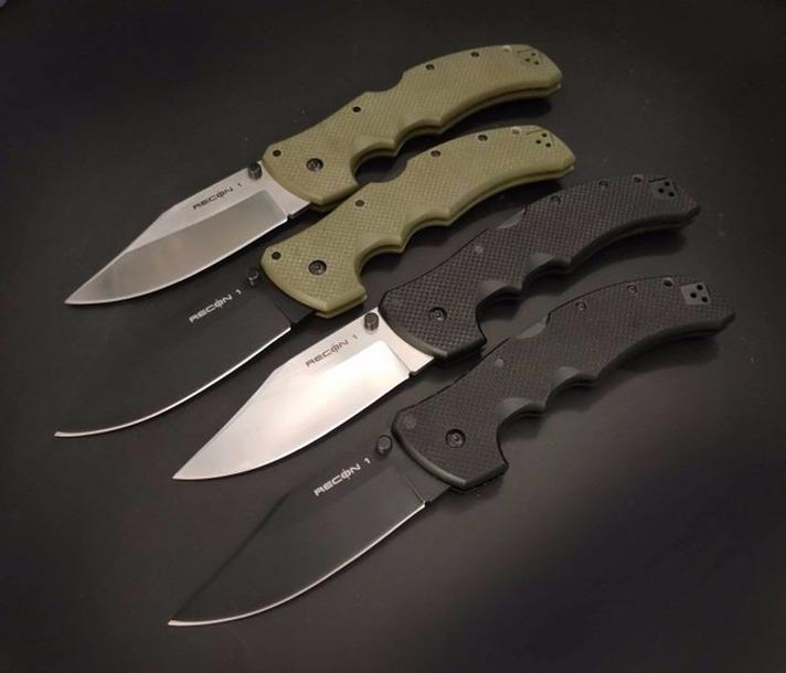 COLD STEEL Recon 1 G10 acampa plegable cuchillo de la supervivencia de Navidad del regalo del cuchillo cuchillos a2130