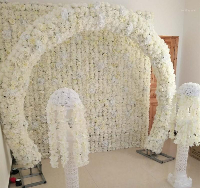 Nuovo Arrivo Simulazione Rosa Hydrangea Flower Rows Decorazione di nozze ARCH ARCH PUNTIPOCES Puntelli 18 Colori disponibili1