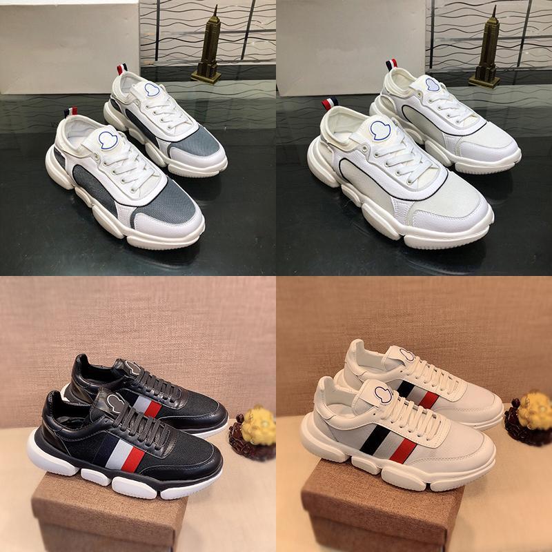 Moncler 2020 دي Chaussures مصمم رجالي الشتاء الثلاثي الصورة موضة حقيقية جلدية قماش فاخر منصة الرجال في الهواء الطلق أحذية عارضة المدربين