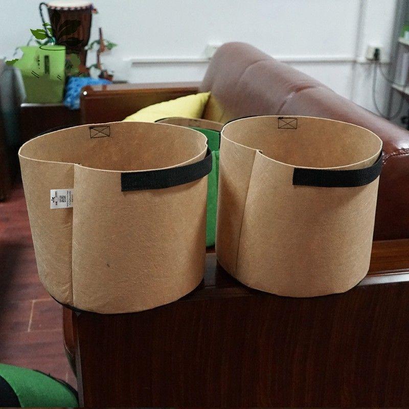 프리미엄 시리즈 식물 재배 가방 갤런 둥근 패브릭 식물 냄비 파우치 뿌리 컨테이너 꽃 냄비 정원 핸들 무게 용량 191 K2