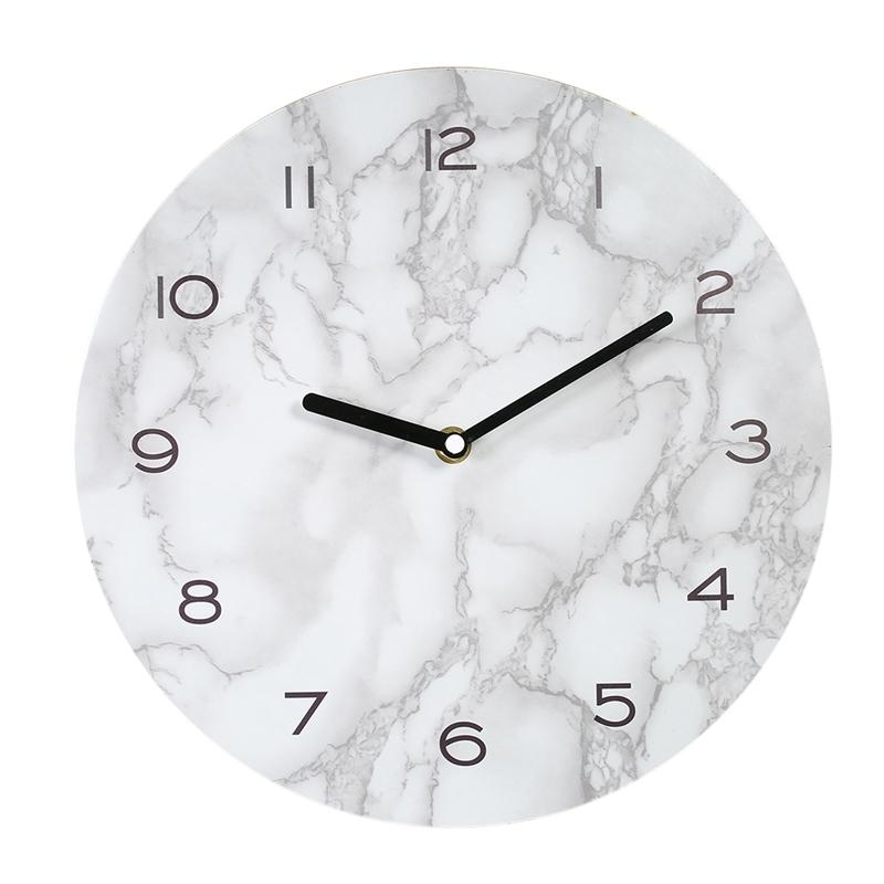DecDeal 11.42in mur suspendu horloge de mur de marbre décoratif horloge de mur de marbre magnifique horloge d'effet marbré.