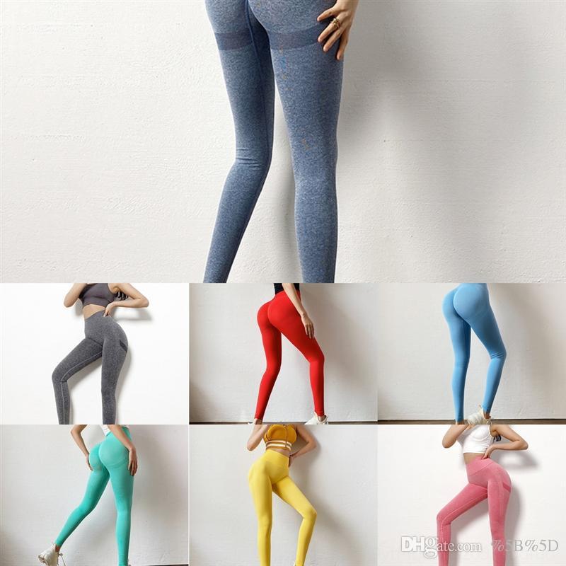 Qlo Donne Colore Pantaloni Solid Yoga Plus Size Petite Yoga Pant per la vita completa Sport Sport Gym Gym Leggings Elastico Fitness Lady Giornal