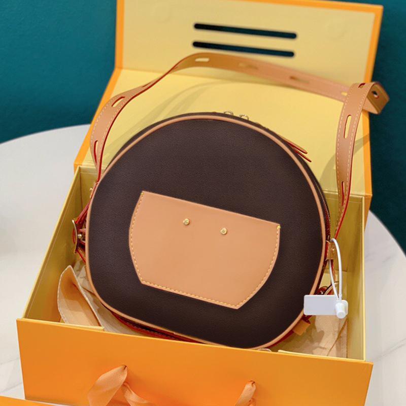 2020 venta caliente bolsa de mensajero clásico de las señoras de la tendencia de la moda bolsa de hombro de alta calidad de impresión cartera caja de regalo de embalaje portátil