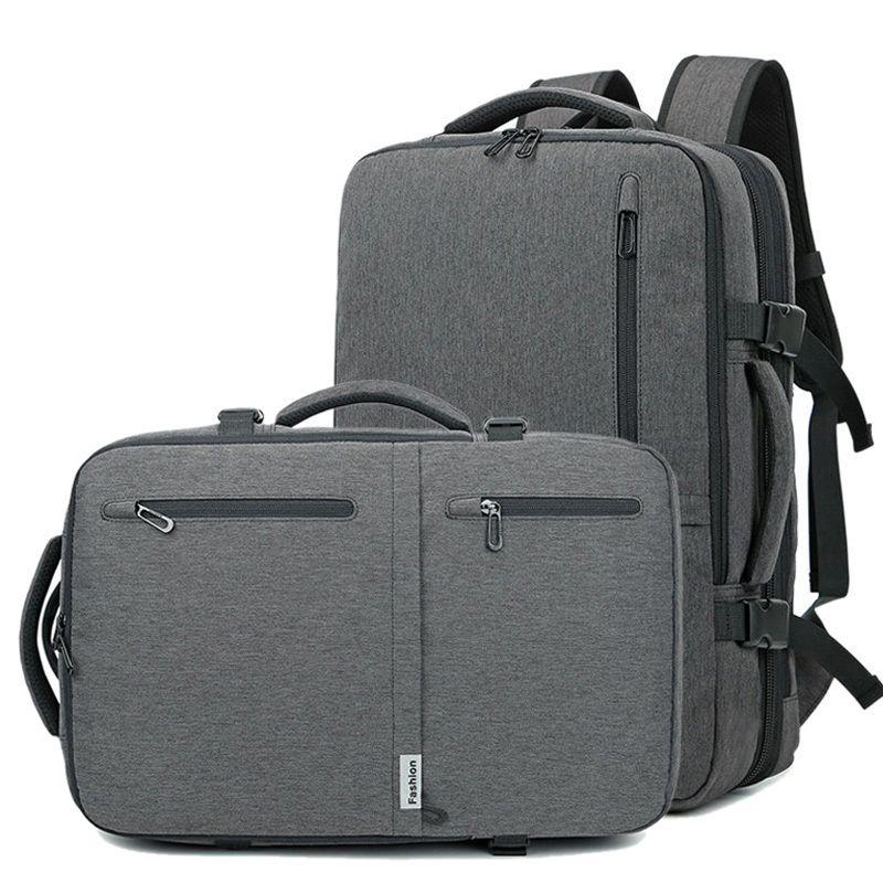 HBP 2020 Men Multifunction 17 Inch Laptop Bag For Male Waterproof Travel Handbags Large Capacity Casual USB Business Bags XA179ZC Q0112
