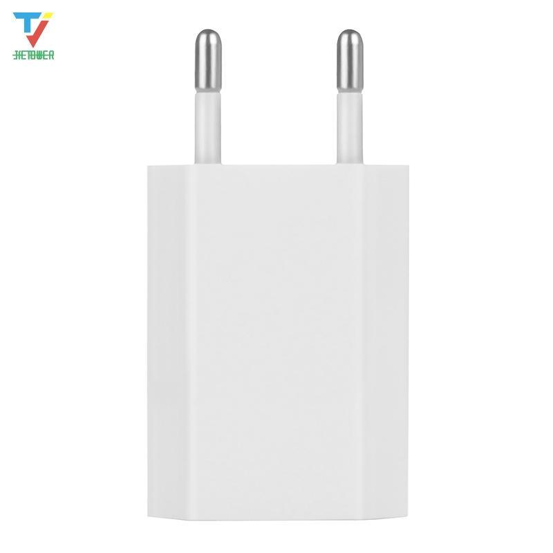 300pcs / серия ЕС Европейский штекер USB адаптер питания зарядное устройство дома стены стандартная зарядка головка для iPhone 11 X перемещения силы зарядного адаптера