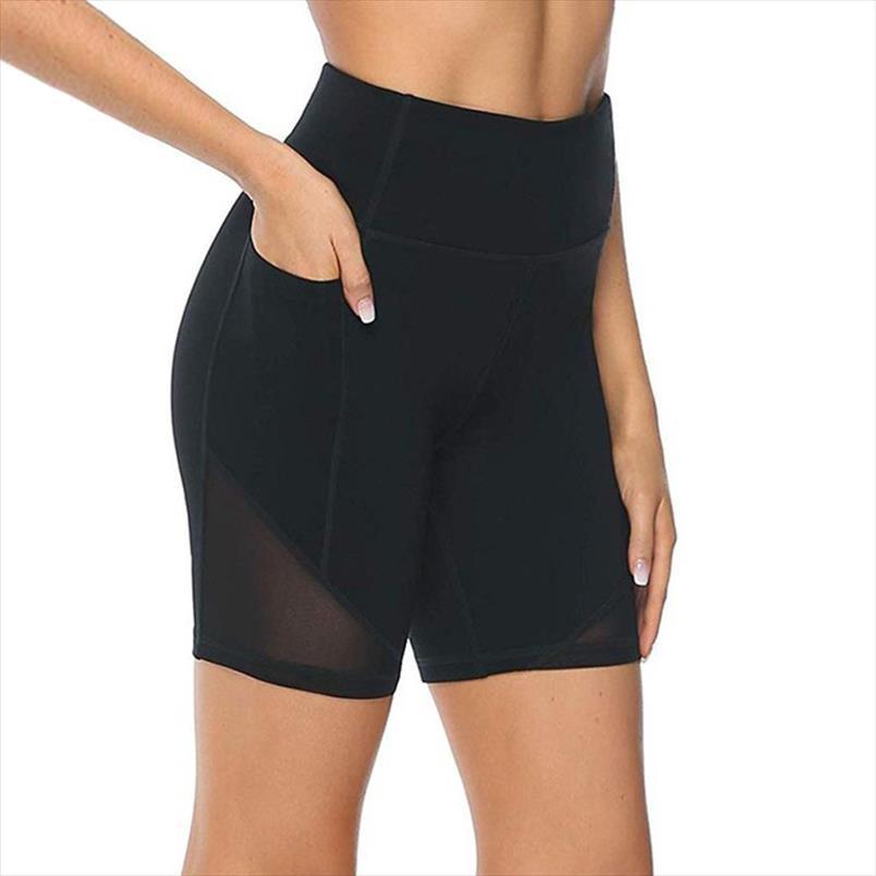 Femmes Leggings Taille haute Courte Abdomen Control Formation Exécution du pantalon de jambe de fitness 2020 Drop Shipping Bonne qualité
