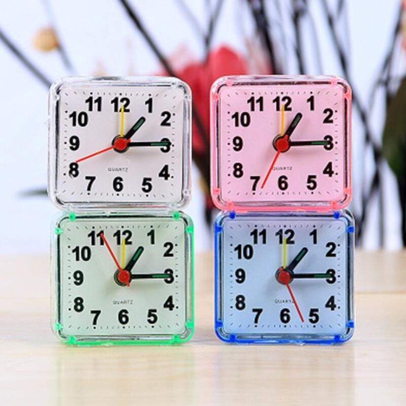 홈 야외 휴대용 귀여운 미니 만화 다기능 트립 침대 경고음 데스크톱 알람 시계 미니 휴대용 테이블 시계 GGE1983
