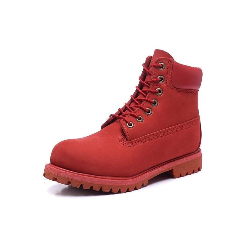 Kereste 6 inç büyük ağaç varış sıcak satış su geçirmez yüksek kalite Martin ayak bileği çizmeler kış kar botları koyu kırmızı ile orijinal kutusu boyutu 5.5-13