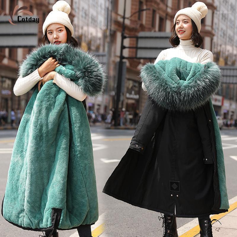 COTDAY CUTTON LONG BLACK BLACK CAPULADO GRUPO FUENTE COMPLETO SOSTANS PIUS TAMAÑO 3XL 2021 VENTA CALIENTE Snowwear Elegante Winter Women Women Women Coat1