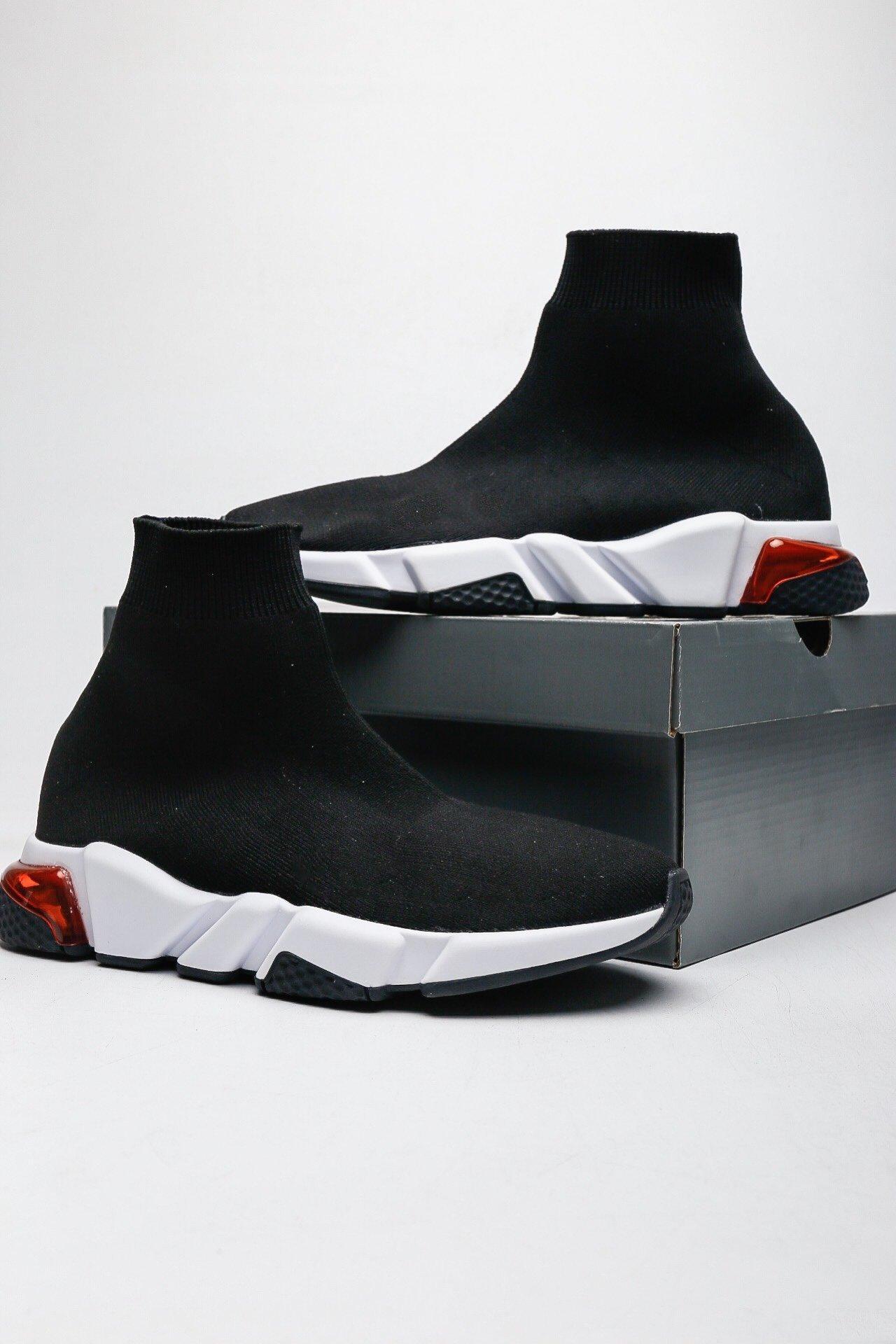 Com Caixa Original Parisiense Designer Sapatos Médio Homens e Mulheres High-Top Frete Shoe Tamanho 36-45