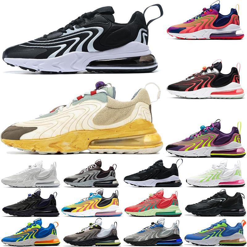 2021 Reaktif Eng Travis Scotts Erkek Kadın Koşu Ayakkabıları Neon Üçlü Siyah Karpuz Erkekler Bayan Eğitmenler Spor Sneakers Koşucular EUR36-45