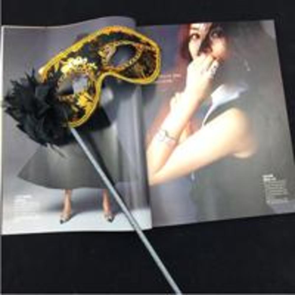 Tissu sur doré vente fleur fête masquerade masques revêtus masques de carnaval de carnaval vénitien de stick mix ordre de commande y1