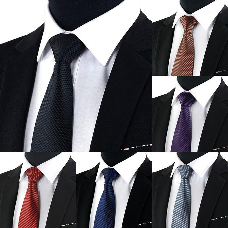 Unisex Professional Working Marry Dark Striped Tie Male Formal Wear Black Tie Business British Style polyester1