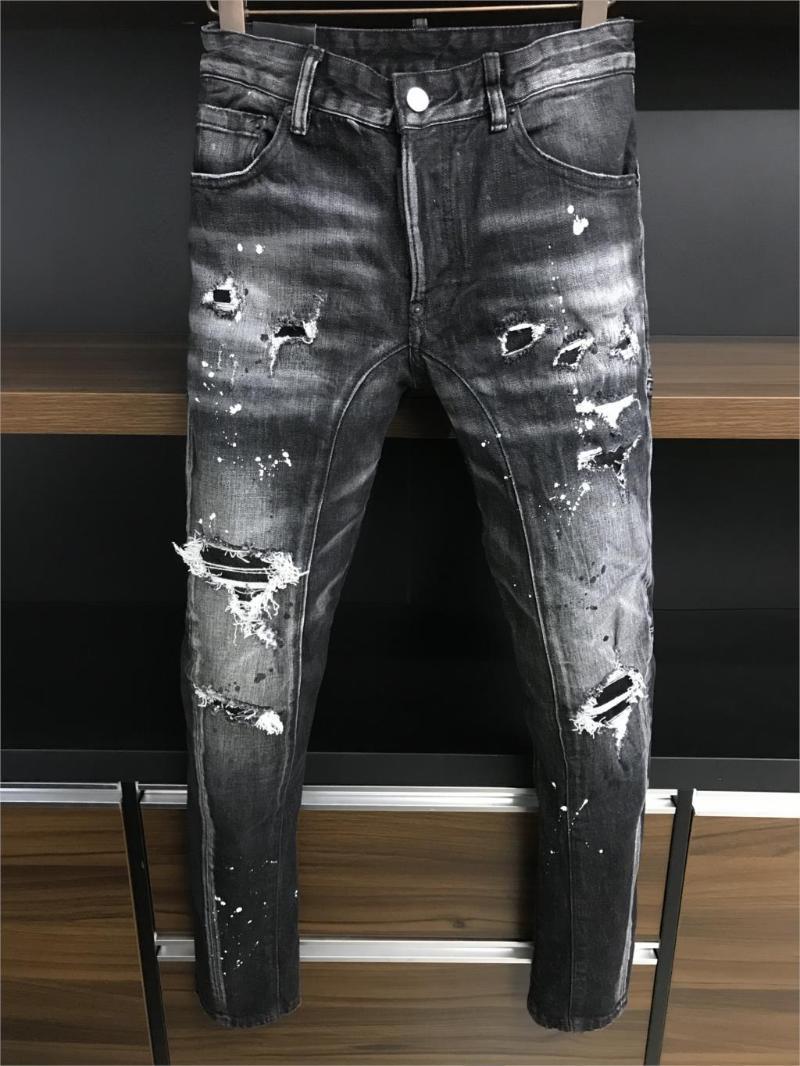 stile di partito degli uomini di modo THK09948 Jeans 2020 Runway Luxury Design europeo Abbigliamento Uomo