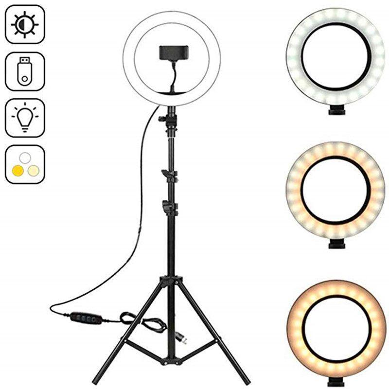 """10.2"""" LED Ring Light Photographic Selfie Ring Lighting with 50 70 160 Tripod Stand for Youtube Live Video Studio Tik Tok"""